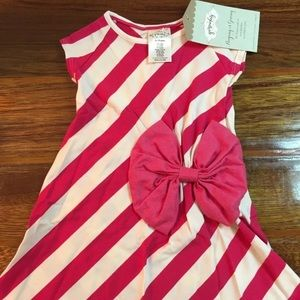 Persnickety Lucille pink stripe dress girls'